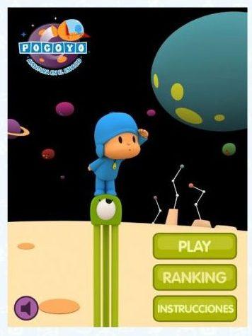 Juego en el espacio con Pocoyó y Pato