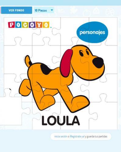 Juego de puzzle de Loula, personaje de Pocoyó
