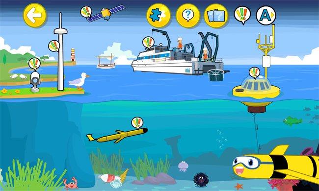 Medclic, la app para niños sobre oceanografía.