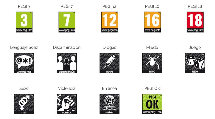 Sistema PEGI videojuegos
