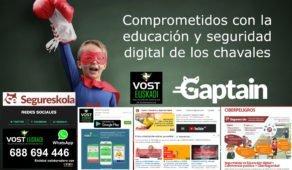 Gaptain y VOST Euskadi unen fuerzas para concienciar sobre los riesgos digitales
