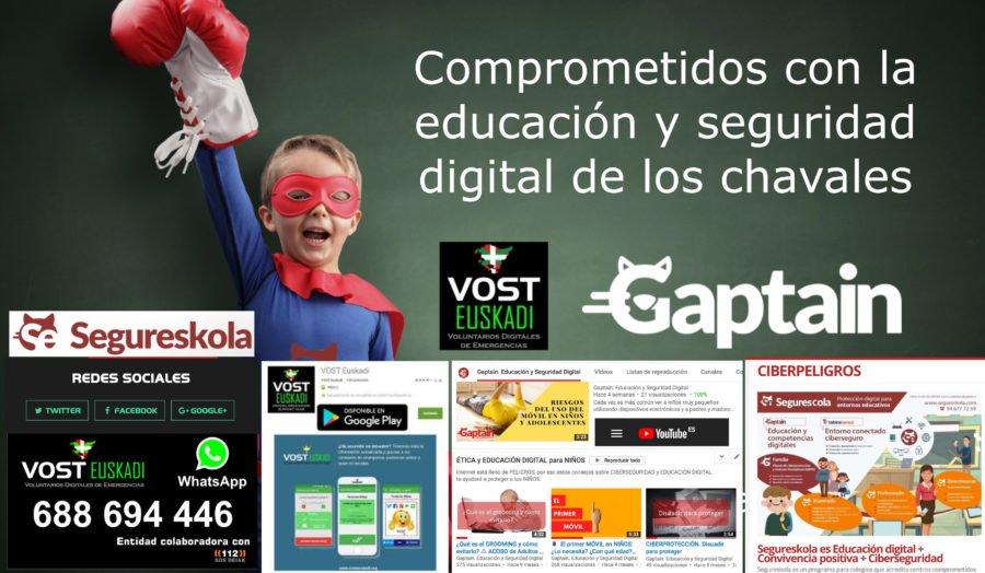concienciar sobre los riesgos gaptain vost euskadi compromiso con la educación y concienciación digital de los niños
