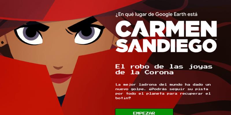 ¿Dónde está Carmen Sandiego? El nuevo juego de Google Earth