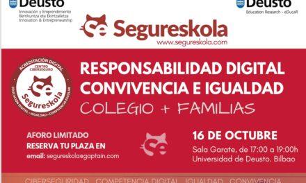 Encuentro Segureskola: Responsabilidad digital, Convivencia e igualdad