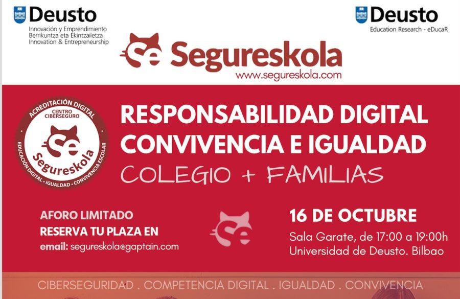 Encuentro Segureskola: Responsabilidad digital e igualdad