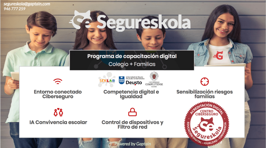 Programa Segureskola: Educación y Bienestar digital riesgos en ciberseguridad personal 2020 Programa Segureskola Educación y Bienestar digital