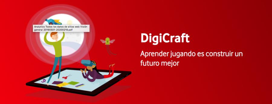 DigiCraft, educación en competencias digitales para niños y niñas.