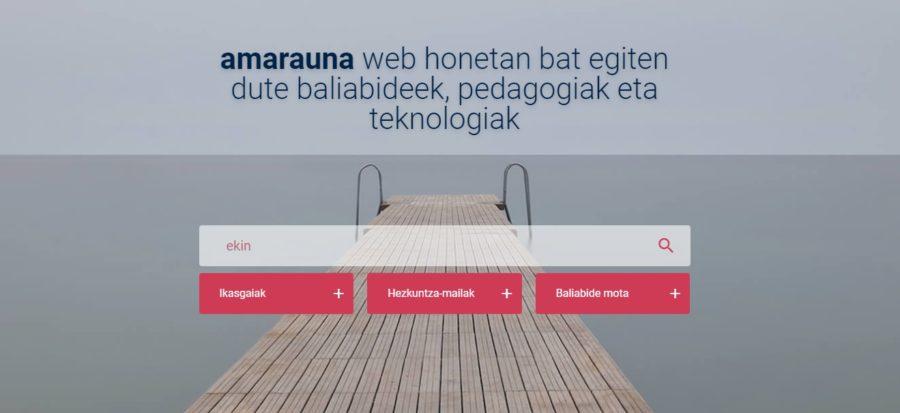 Amarauna, la plataforma educativa online creada por el Departamento de Educación vasco