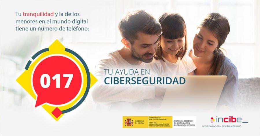 017 teléfono de ayuda en ciberseguridad de INCIBE