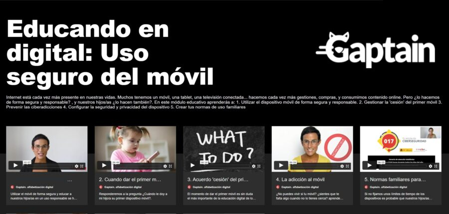 video cursos online para familias educando en digital Educación y Bienestar digital